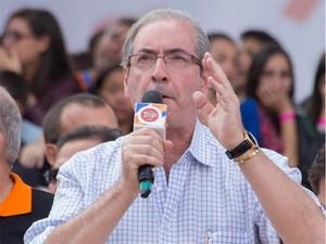 O presidente da Câmara, Eduado Cunha (PMDB-RJ), participou das celebrações do Dia do Trabalho em SP (Foto: Paulo Lopes/Futura Press/Estadão Conteúdo)