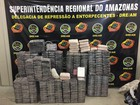 PF apreende 450kg de cocaína pura em lancha no Rio Negro, no AM