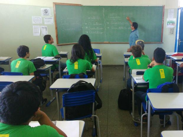 Sala de aula em escola estadual, em Campo Grande (Foto: Graziela Rezende/ G1 MS)