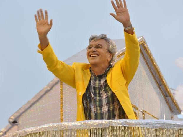 Caetano Veloso - desfile da Paraíso da Tuiuti no RJ (Foto: Alexandre Macieira|Riotur)