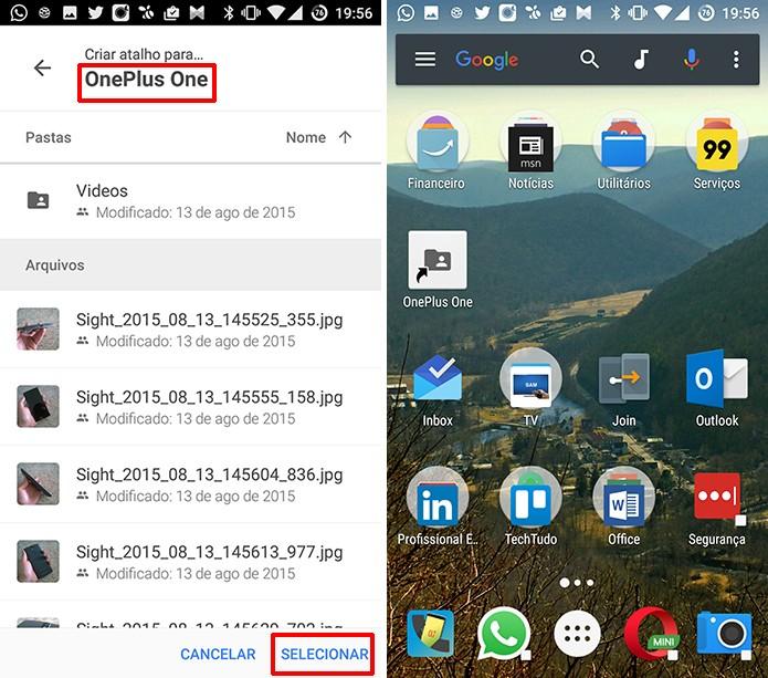 Usuário deve navegar até pasta que deseja fixar na tela inicial do Android (Foto: Reprodução/Elson de Souza)
