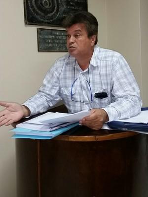 Celso Gomes, presidente e advogado do São Mateus (Foto: Sidney Magno Novo/GloboEsporte.com)