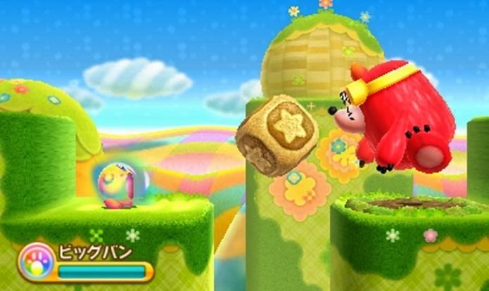 Batalhas e chefões divertidos são o charme de Kirby Triple Deluxe (Foto: Divulgação)