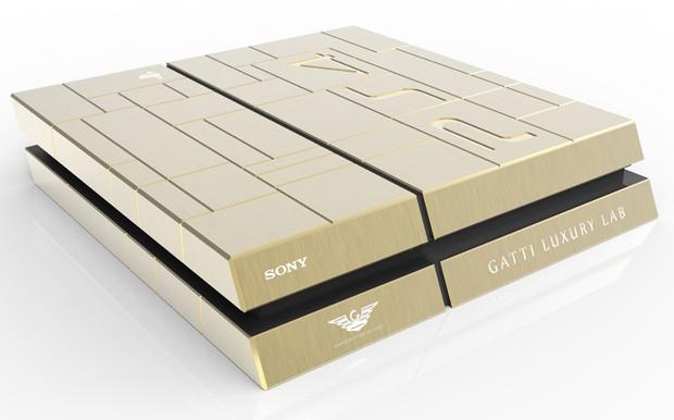 PlayStation 4 feito de ouro custa R$ 31 mil em loja de Dubai (Foto: Divulgação/Jumbo Electronics)