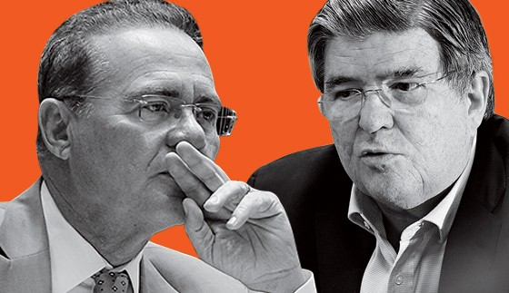 Renan Calheiros e Sérgio Machado (Foto: Jorge William/Ag. O Globo , Tasso Marcelo/Estadão Conteúdo)