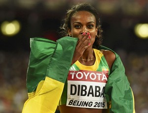 Genzebe Dibaba 1500m mundial pequin (Foto: Reuters)