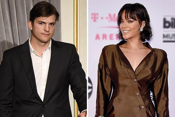 Ashton Kutcher e Rihanna (Foto: Getty Images)