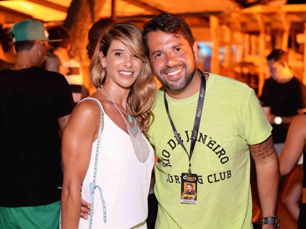 Dany Bananinha e Rafael Cuia em festa no Rio (Foto: Ari Kaye/ Divulgação)