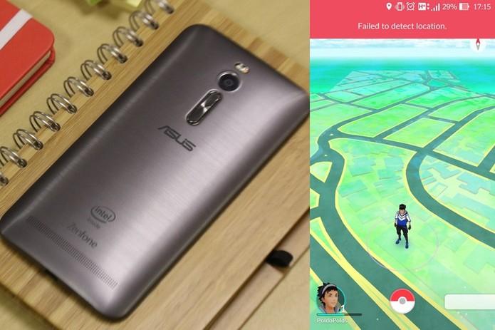 """Pokémon Go apresenta erro de """"Failed to detect location"""" no Zenfone 2 (Foto: Arte com fotos de TechTudo e Leopoldo Rosa/Arquivo pessoal)"""