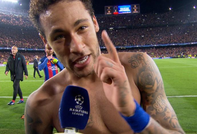 Frame Neymar Barcelona x PSG (Foto: Reprodução)