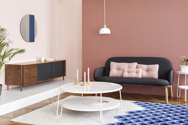 Décor do dia: sala de estar rosa e divertida (Foto: divulgação)