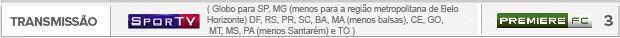 Header transmissão Cruzeiro x Corinthians (Foto: Editoria de arte)