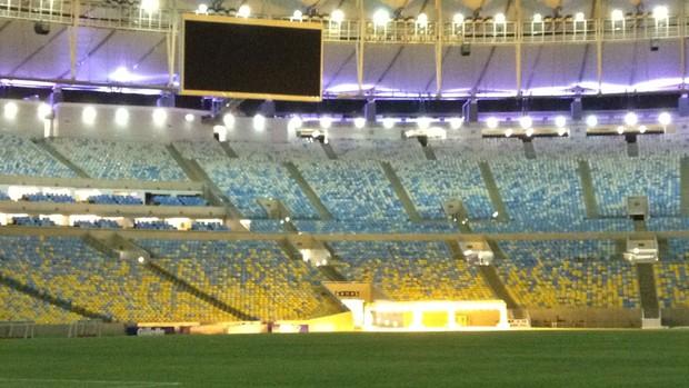 Maracanã de dentro do estádio Parte (Foto: Thiago Lopes)