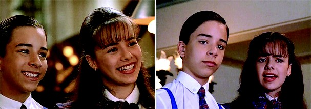 Sandy e Junior no filme O Noviço Rebelde, de 1997 (Foto: Reprodução)