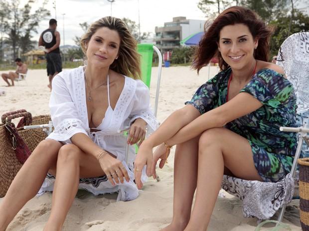 As atrizes se divertiram muito durante as gravações (Foto: Salve Jorge/TV Globo)
