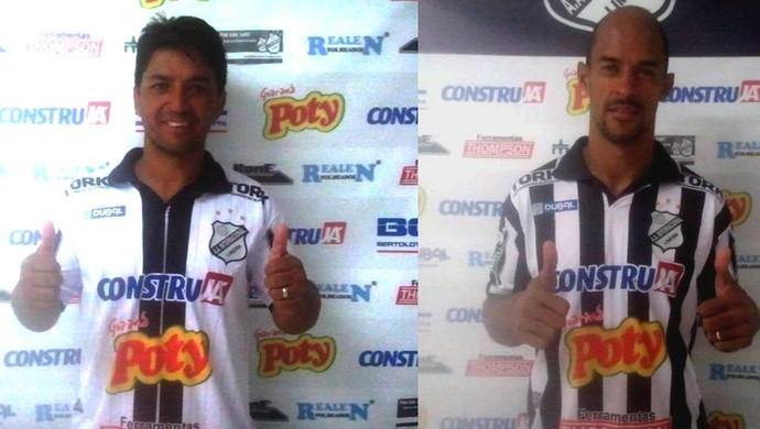 Meia Marcelinho e Zagueiro Carlão Inter de Limeira (Foto: Assessoria de Imprensa / Inter de Limeira)