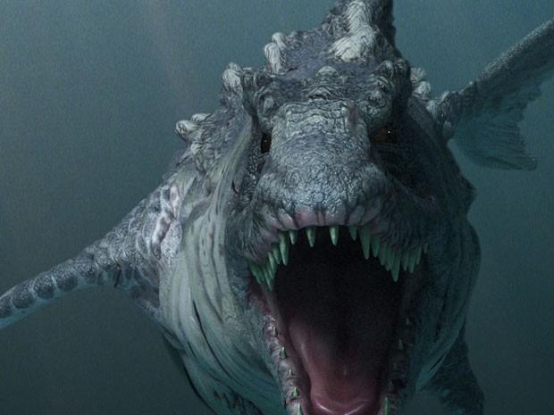 Cena de 'Dinoshark' (Foto: Divulgação)