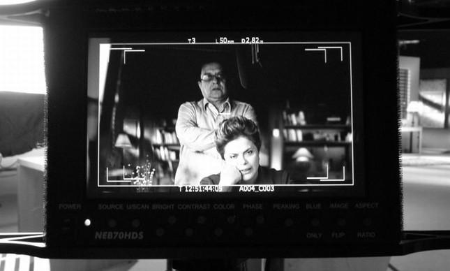 Dilma Rousseff e o marqueteiro João Santana (Foto: Divulgação)