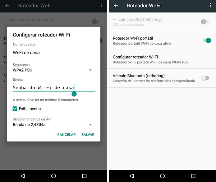 Crie um Wi-Fi com mesmo nome e senha já configurados no Chromecast (Foto: Reprodução/Paulo Alves)