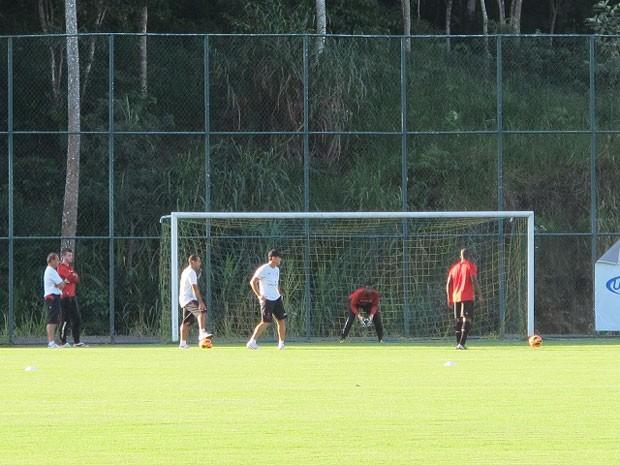 Amaral treino Flamengo (Foto: Richard Souza)