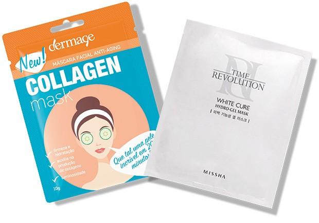 Collagen Mask, Dermage, R$ 10. White Cure, Missha* (Foto: Reprodução)