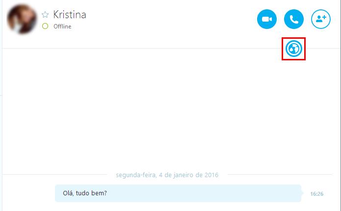Clique sobre o globo dentro do chat  (Foto: Reprodução/Paulo Alves)
