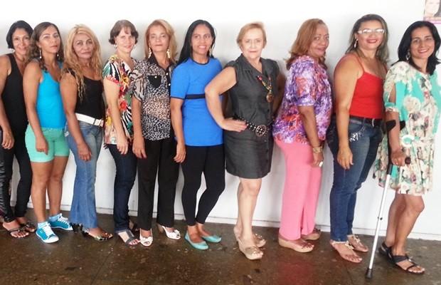 Candidatas ao Miss Goiânia Terceira Idade se preparam para o concurso (Foto: Divulgação)