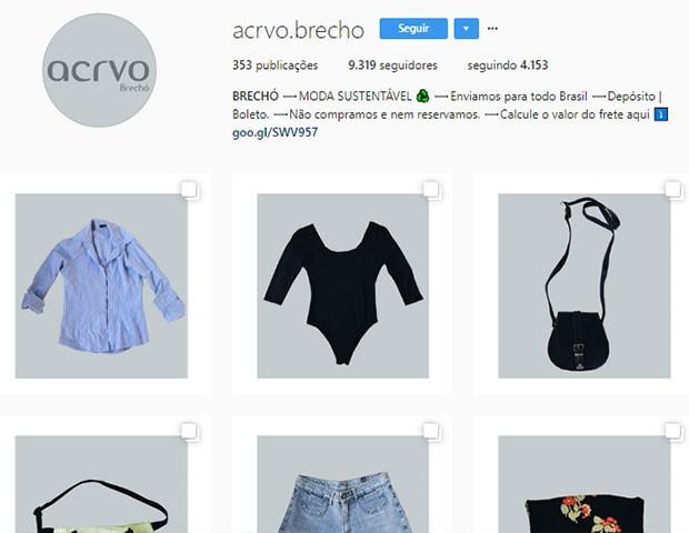 Acrvo Brechó (Foto: Instagram)