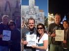 Casal viaja mais de 12 mil km para visitar 3 parques da Disney em um dia