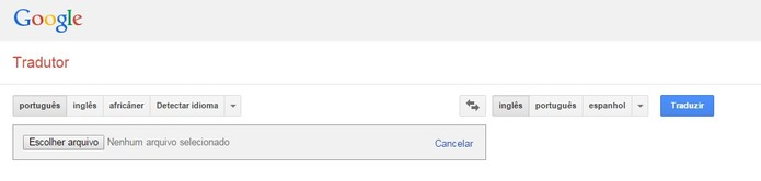 Traduza documentos utilizando o Google Tradutor (Foto: Reprodução/Juliana Pixinine)