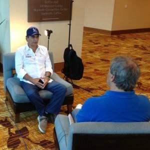 Nelson Piquet conversa com Reginaldo Leme. Entrevista vai ao ar neste domingo (Foto: Rafael Lopes)