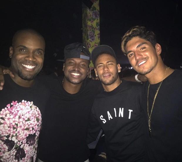 Rafael Zulu, Thiaguinho, Neymar e Medina  (Foto: Instagram / Reprodução)