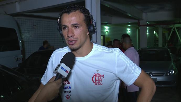 Leandro Damião, atacante do Flamengo (Foto: Reprodução SporTV)