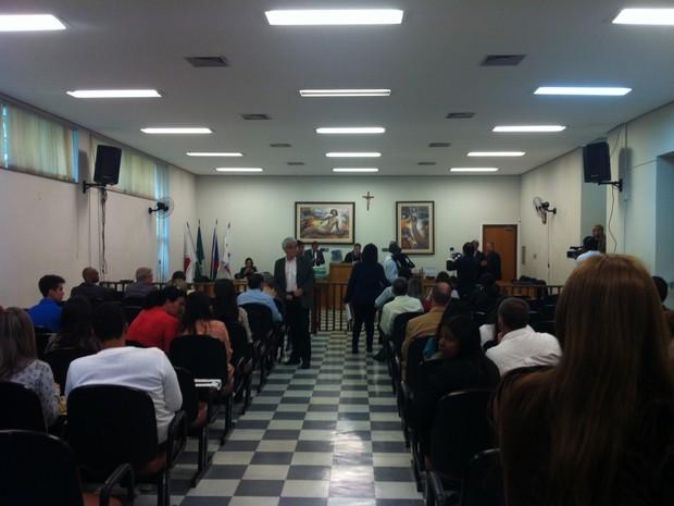 Julgamento de Lúcio Lírio é realizado no fórum de Ipatinga (Foto: Patrícia Belo/ G1)