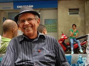 Hamilton Fechine é um dos personagens do Calçadão de Campina Grande (Foto: Diogo Almeida / G1)