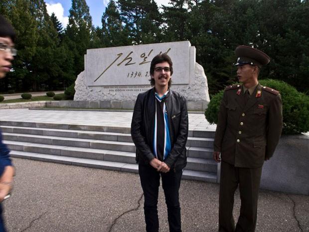 Marcelo Druck na Coreia do Norte (Foto: Marcelo Druck/Arquivo pessoal)