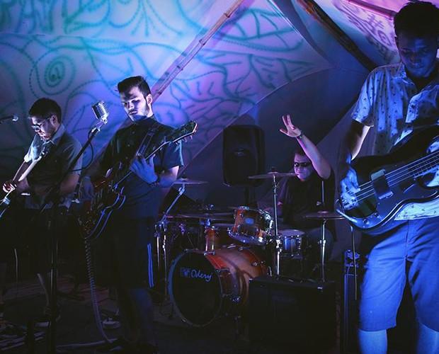 A banda em um festival de rock alternativo (Foto: Arquivo Pessoal)