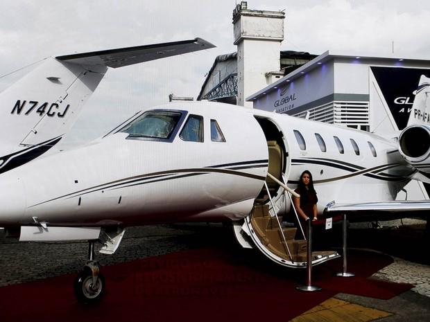 Avião acidentardo era o Cessna 560 XL de prefixo PR-AFA (Foto: Marcelo carnaval/Agência O Globo/Arquivo)