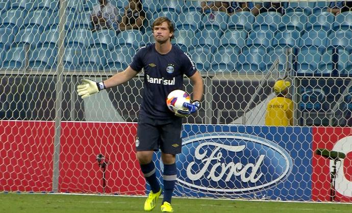 Grêmio x Lajeadense Tiago Grêmio Arena (Foto: Reprodução/RBS TV)