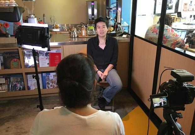 Pamela Chng, criadora do projeto Bettr Barista: recuperando mulheres em situação vulnerável em Cingapura (Foto: Divulgação)