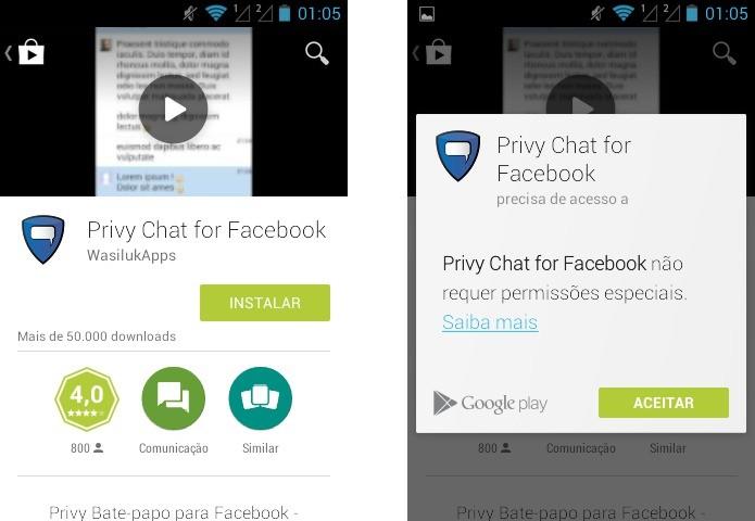 Instale o Privy Chat em seu celular (Foto: Reprodução/Helito Bijora)