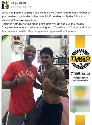 Tiago Trator; Esporte; MMA (Foto: Reprodução/Facebook)