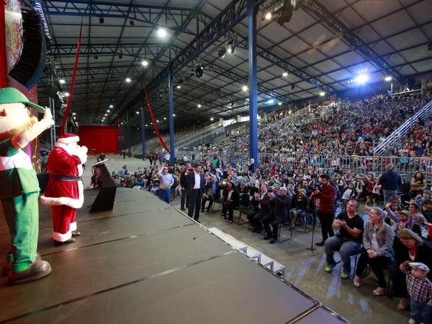 Show reúne quase 2 mil estudantes no ExpoGramado (Foto: Divulgação/Cleiton Thiele)