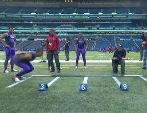 Futebol Americano - recorde salto em distância sem impulso (Foto: Reprodução/instagram)