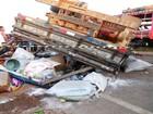 Caminhão tomba e 21 feirantes ficam feridos em Tobias Barreto, SE