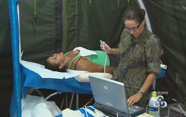 As Forças Armadas são as responsáveis pelos atendimentos médicos e odontológicos (Foto: Amazonas TV)