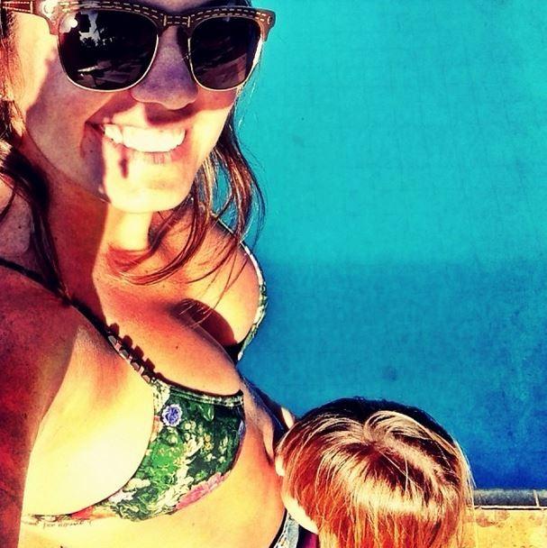 Carolina Bianchi, ex-affair de Caio Castro, mostra foto grávida (Foto: Instagram / Reprodução)