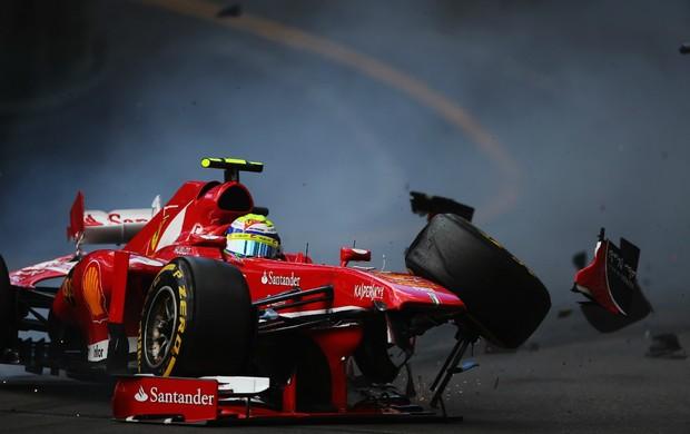 Felipe Massa bate forte no terceiro treino livre para o GP de Mônaco (Foto: Getty Images)