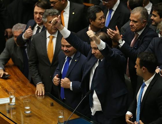 Rodrigo Maia foi eleito presidente da Câmara dos Deputados (Foto: Fabio Rodrigues Pozzebom/Agência Brasil)