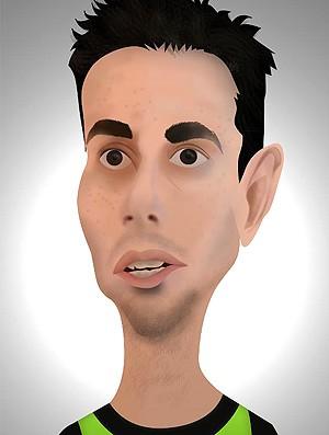 Alessandro caricatura América-MG (Foto: Divulgação / Luiz Ricardo Peregrino)